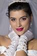 Beautiful brunette bride