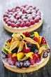 Fruit and berry tarts