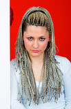 young woman with dreadlocks poster