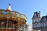 Parisian carousel at the City Hall