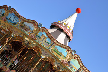 Traditional Parisian carousel