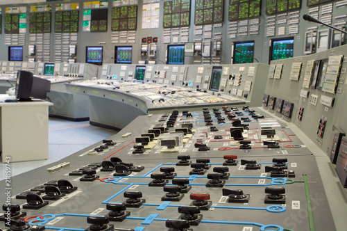 Staande foto Industrial geb. Control room of a russian nuclear power generation plant