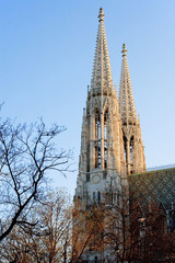 Spires of the Votivkirche, Vienna, Austria