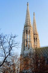 Spires of the Votivkirche, Vienna, Austria