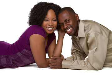 Happy Black Man and Woman
