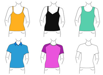 blank t shirt set (woman)