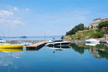 Capodimonte  - Viterbo - Il porto - Barche
