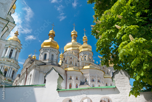 White orthodox cathedral in Ukraine