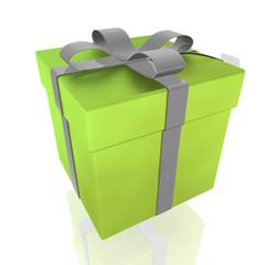 Fancy wrapped ribbon present