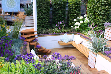 Seats in garden
