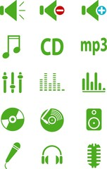 green web icons. vector illustration.