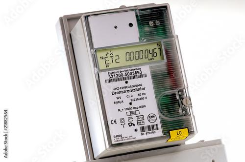 Leinwanddruck Bild Digitaler Stromzähler