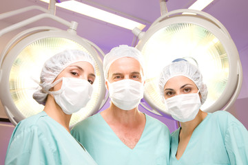 A team of surgeons