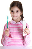 oral hygiene advice from smiling child poster