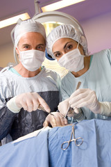 Surgeons at work portrait