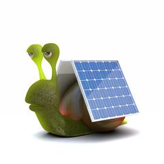 Solar powered snail