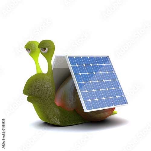 Solar powered snail
