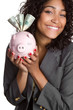 Piggy Bank Businesswoman
