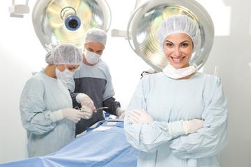 Surgeon smiling
