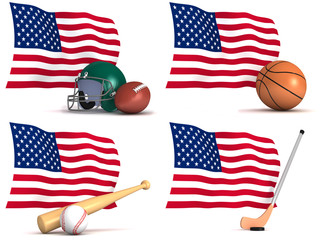 Sports played in The United States of America