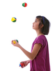 child juggling
