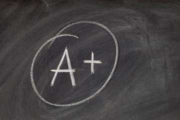 A plus grade on blackboard