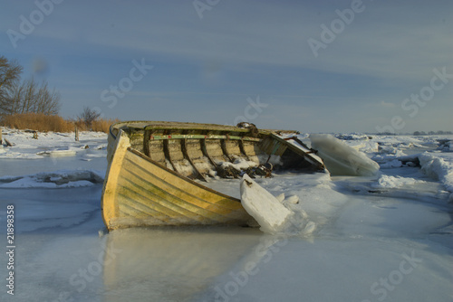 Boat in ice pack