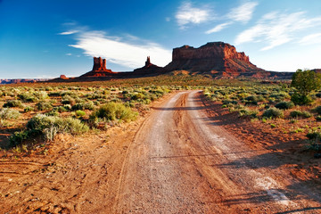Road in Monument Valley. USA
