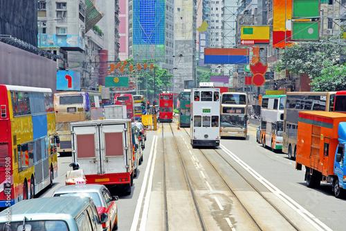 obraz lub plakat China, Hong Kong Hennessy road