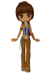Chibi Native American Girl
