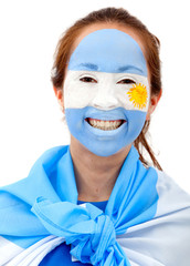 Argentinian flag - female face