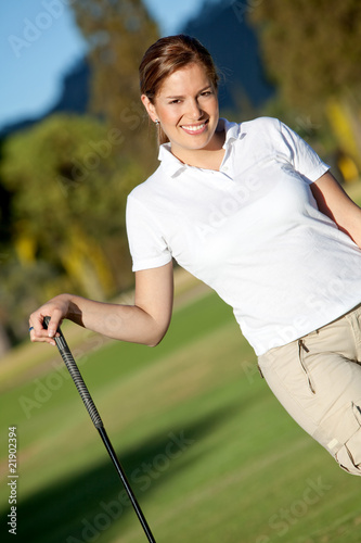 Beautiful golf player