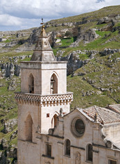 St. Pietro Caveoso Church. Sassi of Matera. Basilicata.