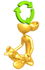 Gold Guy Open Head Yoga Recycle