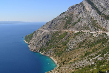 Mountainous coastline