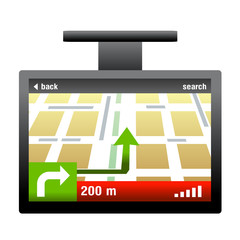 gps car navigator vector isolated