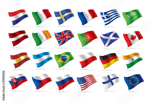 world flags vector as true