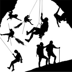 Climber Silhouettes
