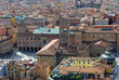 Bologna aerial view  king Enzo castle and main square