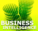 Business intelligence illustration poster