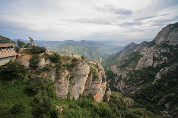 View from Monastery Montserrat, Spain