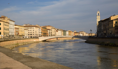 Pisa - waterfront - evening