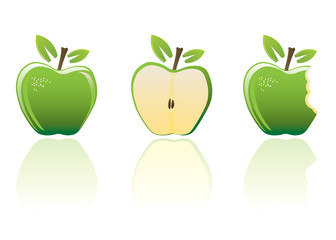 Green apple set