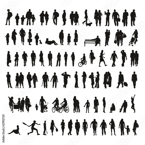 Big collection of silhouettes - Shadows - 21912729