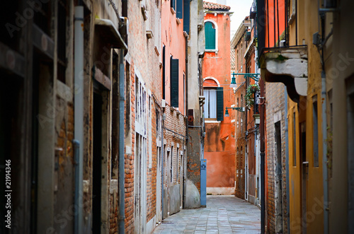 Narrow street in Venice