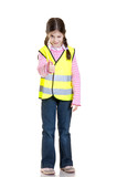 little girl advice to use the reflective clothing poster