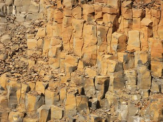 Rock erosion in Cabo Verde