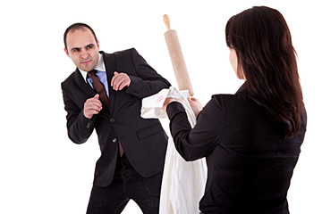 woman arguing with her husband
