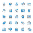 Blue Gray Icon Set - Business, Finance & Money