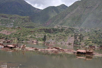 Flood damage in Cusco
